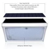 레이다 운동 측정기 정원 야드를 위한 원격 제어 옥외 방수 거리 벽 비상등을%s 가진 56의 LED 태양 빛