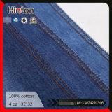 Tessuto di vendita caldo 100% del denim del cotone della fabbrica 32*32 4oz