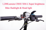 1200 lúmenes XM-L T6 Bike Light & Light Head # S123, Top Class LED Flashlight Bike