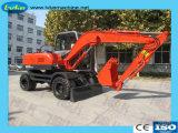 Machine de construction hydraulique sur chenilles 7,5 tonne/roue pour la vente d'excavateur