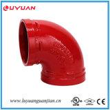 Ajustage de précision de pipe Grooved approuvé de FM/UL coude de 90 degrés