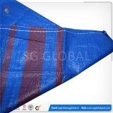 China-blauer Farben-pp. gesponnener Beutel mit rotem Streifen