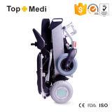Cadeira de rodas elétrica de pouco peso da potência do curso da venda superior com saco do armazenamento