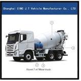 Hyundai 6X4 con el camión Mezclador de 7-12 m tanque
