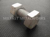 ASTM A307 parafuso francês Gr. B com um563m Gr. A Porca Hexagonal Pesado 10s galvanizados a quente
