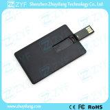 Movimentação feita sob encomenda do USB do cartão conhecido 16GB de negócio do preto do logotipo (ZYF1832)