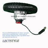 motor sin cepillo dejado y derecho de la C.C. de 24V 250W de la energía eléctrica del sillón de ruedas con la palanca y el regulador de la palanca de mando