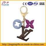 Logotipo de impressão personalizado Corrente chave de metal com anel