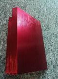 6063t5 borstelde de Geanodiseerde Rode Uitdrijving van het Aluminium/van het Aluminium