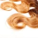 El cuerpo humano brasileño Ombre cabello virgen ola trama peluca