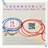 La eslinga de cuerdas de alambre de acero galvanizado con abrazadera 7*7-4mm