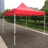 3x3m rouge pop up d'acier de plein air Gazebo tente de pliage