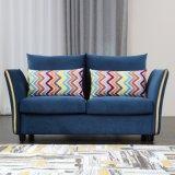 Dos azul tejido del asiento sofá muebles para el hogar