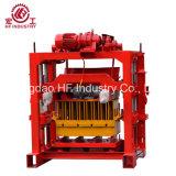 Bloc Qt4-40 creux manuel faisant à machine la machine concrète de brique