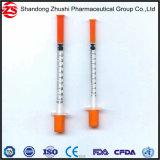 Marca da escala de 1ml U-40 seringa de insulina coloridos