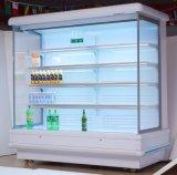 Abra a parede do Resfriador Chiller do visor para frutos frigorífico