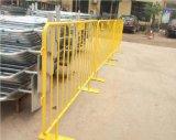 Загородка барьера движения порошка Coated стальная/барьера управлением толпы