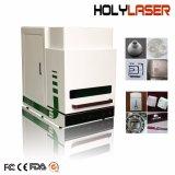 Metal máquina marcadora láser de fibra marca Alumnium acero cobre