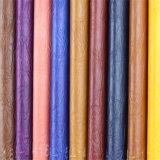 Terreno de alta calidad de suministro de mobiliario de cuero sintético de PVC de gama alta.