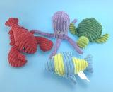 Brinquedo enchido macio do cavalo do animal de estimação do luxuoso com corda e Squeaker 4 Asst