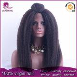 비꼬인 똑바른 Yaki 브라질 Virgin 머리 정면 레이스 가발