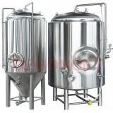 1000L fermentatore di raffreddamento conico della birra del rivestimento da 60 gradi