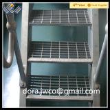 Gewundenes Treppenhaus-Metall-ISO gezacktes Treppe-Schritt-Zerreiben