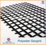 Poliestere Geogrid ricoperto di PVC SBR di Bitument dell'asfalto