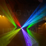 DJ professionnel 3W Stade lumière laser RVB