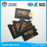 El bloqueo de manguito de la tarjeta RFID de papel