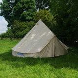 Tenda di Bell rotonda della tenda del partito 5m di Glamping della tela di canapa impermeabile del cotone