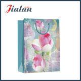 Retro série avec les fleurs de lotus Shopping transporteur sac de papier cadeau