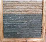 壁のクラッディングの内部の安いスレートによって培養される石