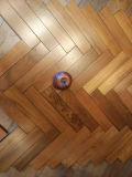 Óleo rico e ferro de piso de madeira teca sólidos de madeira natural