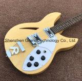 Ricken Retour Semi-Hollow Jazz guitare électrique dans des couleurs naturelles (JH-8)
