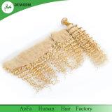 Человеческие волосы девственницы популярной глубокой волны Aofa блондинкы меда 613 перуанские