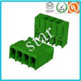 Personalizada 5,08 mm Paso enchufable 3 Pin verde del bloque de terminales de PCB
