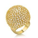 El Diseñador de venta al por mayor 2017 Balón de Oro Blanco con forma de anillo de joyería CZ