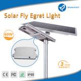 lámpara solar de la luz del jardín de la calle del sensor de movimiento de 60W LED