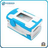 Nouveau-OLED oxymètre de pouls du bout des doigts avec la pendaison câble (blanc bleu)