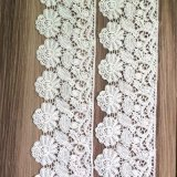 직물 부속품, 최신 디자인의 백색 레이스 직물 떨어져 꽃 트리밍 레이스,