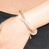 دبي نوع ذهب مجوهرات سبيكة سوار نمو بلّوريّة نساء سوار