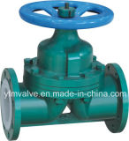 Weir allineato Diaphragm Valve per Chemical Industry