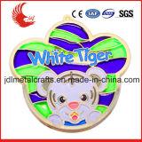Disegno animale con la medaglia commemorativa di alta qualità della vernice di colore completo