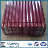 Sale caldo Corrugated Aluminum Plate per Buildings