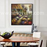 100%の壁の装飾のためのハンドメイドの花の庭の景色の油絵