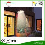 luz ao ar livre solar do jardim da parede do diodo emissor de luz do sensor do corpo 25LED