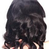 Женщин волны шнурка человеческих волос цвета природы высокого качества парик шнурка бразильских шелковистых свободных полный