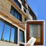 Revestimento de madeira de carvalho na janela de mudança de Inclinação de alumínio