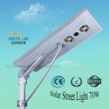 6W-100W impermeabilizan IP65 todo en una luz de calle solar para al aire libre